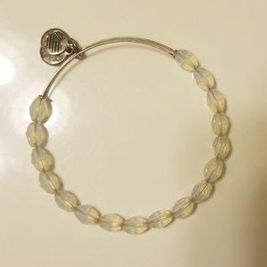 Alex and Ani silver/white beaded bracelet